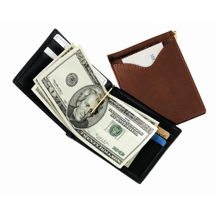 Royce Leather Men's Cash Clip Wallet