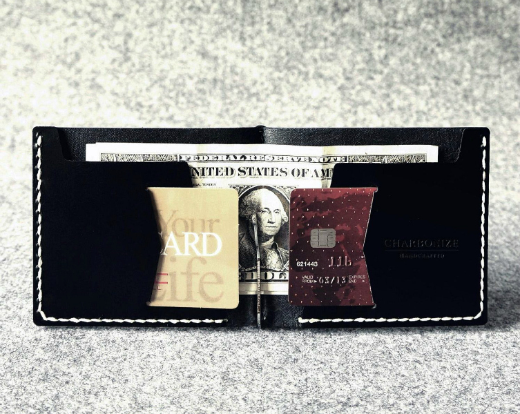 Charbonize X Handcrafted Leather Wallet with Money Clip